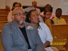 Pastor Heath Cheek and Co-pastor Sharon Cheek watch the presentation during Pastors' Appreciation Day.
