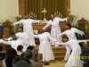 "The Liturgical Dance Ministry ""praisent"" during Sunday service."