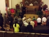 Pastor Heath Cheek calls the fathers of Met-Wes down to the alter for a Father's Day blessing and prayer.